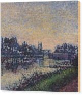 Landscape With A Lock 1885 Wood Print