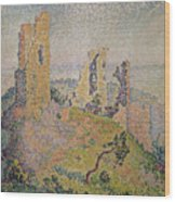 Landscape With A Ruined Castle  Wood Print