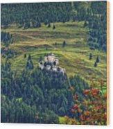 Landscape With Castle Wood Print
