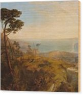 Landscape With Classical Ruins Wood Print
