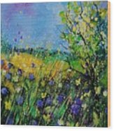Landscape With Cornflowers 459060 Wood Print