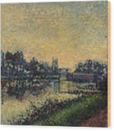 Landscape With Lock 1886 Wood Print
