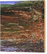 Landscape With Sky Reflected Wood Print