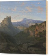 Landscape With The Castle Of Montsegur Wood Print