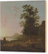 Landscape With The Flight Into Egypt Wood Print