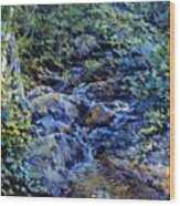 Landscape With Waterfall 1890 Wood Print