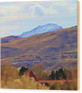 Landscape Wyoming State  Wood Print