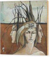 Landscaped Headdress Wood Print