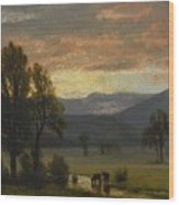 Landscape_with_cattle Wood Print