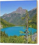 Landslide Lake Wood Print