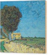Lane Near Arles Wood Print