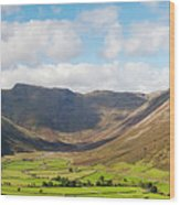 Langdale Fell And Pikes Panorama Wood Print