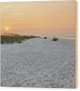 Langdon Beach Sunrise 5 - Pensacola Beach Florida Wood Print
