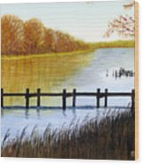 Langford Bay Wood Print