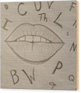 Language Of Speech Wood Print