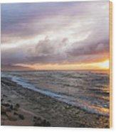 Laniakea Beach Sunset Wood Print