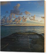 Lanikai At Sunrise Wood Print