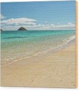 Lanikai Beach 4 - Oahu Hawaii Wood Print