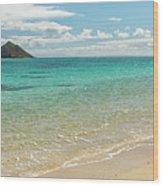 Lanikai Beach 4 Pano - Oahu Hawaii Wood Print