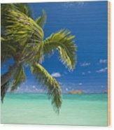 Lanikai Seascape Wood Print