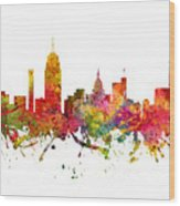 Lansing Cityscape 08 Wood Print