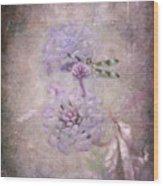 Lantana In Purple Wood Print