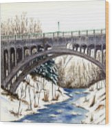 Lanterman Falls Bridge - Mill Creek Park Wood Print