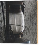 Lantern Blue Wood Print