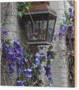 Lantern N Vines Wood Print