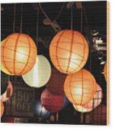 Lanterns 50 Percent Off Wood Print