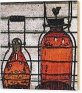 Lanterns Still Life Wood Print