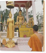 Laos, Vientiane Wood Print