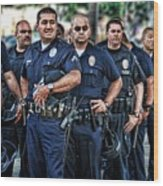 Lapd Safeguarding Lives Wood Print by Chris Yarzab