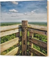 Lapham Peak Wisconsin - View From Wooden Observation Tower Wood Print