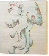 Lapis Lazuli Bejeweled Fertility Goddess Wood Print