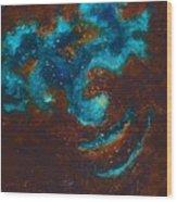 Lapis Lazuli Nebula  Wood Print