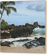 Lapiz Lazuli Stone Aloha Paako Aviaka Wood Print