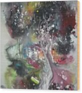 Large Color Fever Abstract25-original Abstract Painting Wood Print