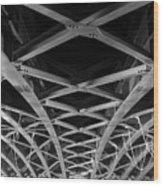 Large Girder Bridge Wood Print
