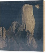 Large Granite Mountains In California Wood Print