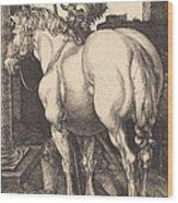 Large Horse Wood Print