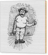Large Man Wood Print by Karl Addison