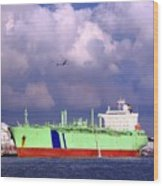 Large Oil-tanker Wood Print