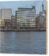 Large Panorama Of Downtown London Betwen The London Bridge And T Wood Print