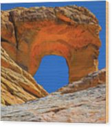 Large Sandstone Arch Valley Of Fire Wood Print