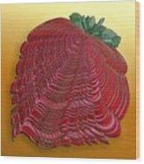 Large Strawberry Scallop Wood Print