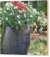 Large Vase Wood Print