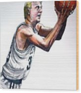 Larry Bird Wood Print by Dave Olsen