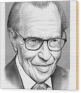 Larry King Wood Print