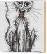 Larry The Cat Wood Print